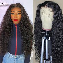 UWIGS-peluca ondulada de agua de 180 de densidad, peluca de cierre 4x4, pelucas de cabello humano con malla frontal de encaje 13x4 para mujer, peluca brasileña de ondas al agua