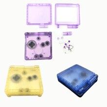Yedek konut Shell kılıf Gameboy Advance için G B A SP oyun konsolları koruyucu PC kapak onarım parçaları aksesuarları