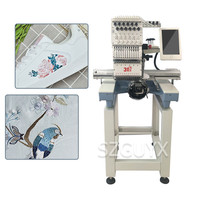 Multifunctional fully automatic Leather garment hat embroidery machine computer industrial equipment