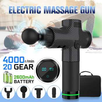 20 Gear LCD Display Massage Gun Deep Muscle Massager Muscle Pain Body Massage Exercising Relaxation Shaping Pain Relief