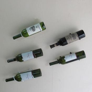 5PCS,Hot Sale Wine Display Storage Rack Bracket Wall Mount Hanging Wine Holder Wine Bottle Display Stand Bar Accessory недорого
