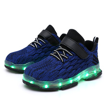 2020 Led shoes Size 25-37 USB Charging Children Boys Glowing Luminous Sneakers Girls Led Lights Shoes Kids fashion Casual Shoes 2017 new baby kids 7 color led light sneakers girls boys usb charge luminous shoe children sports running shoes size 25 37