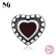 цена на Charms silver 925 original Antique boy and girl shape charms fit Bracelet Pandora Pendant Beads making Jewelry for women Gifts