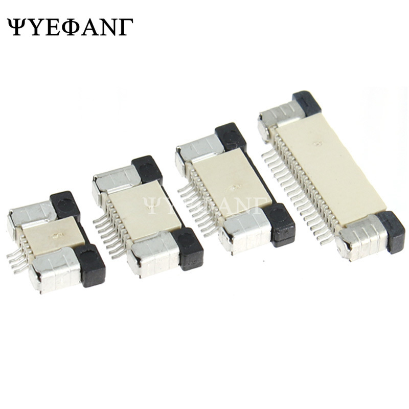5pcs FFC FPC connector 0.5mm Pull-in Top Contact SMD Connector 4 6 8 10 12 14 16 20 22 24 26 28 <font><b>30</b></font> <font><b>32</b></font> 34 <font><b>36</b></font> <font><b>40</b></font> 50 Pin image