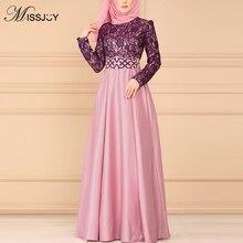 MISSJOY Robe Abaya en dentelle pour femmes musulmanes, Vintage, Kimono arabe, Jubah, dubaï, vêtement islamique élégant, S 5XL