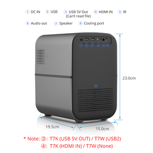 Image 4 - TouYinger T7 T7K HD LED Home projector Bluetooth, 1280x720 Full HD video USB beamer for Cinema, 4000 lumens Android Optional