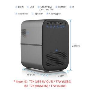 Image 4 - TouYinger T7 T7K T7W HD домашний светодиодный проектор Bluetooth, 1280x720 Поддержка Full HD видео LED USB проектор для кино, 4000 люмен Android опционально