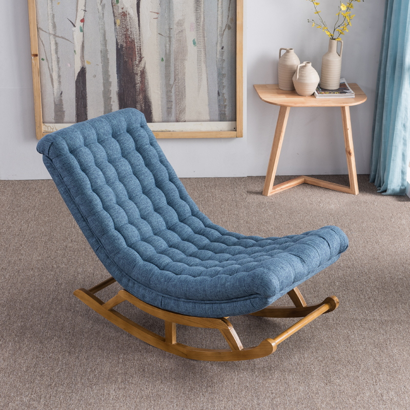 M8 Nordic Simple Rocking Chair Recliner Pregnant Women Chair Lazy Couch Single Balcony Nap Sway Chair Rocking Chair