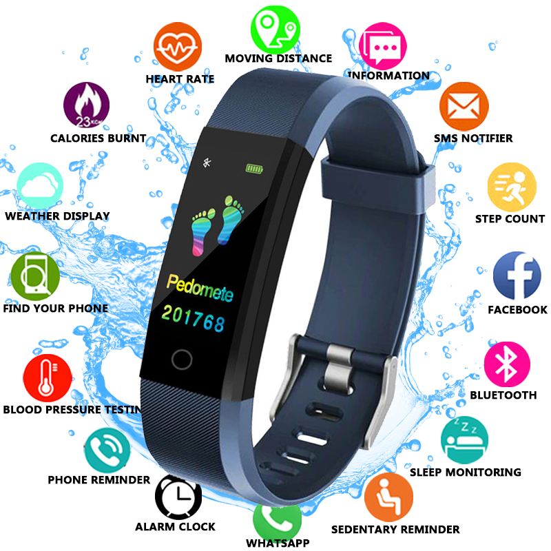 FXM 2019 Smart Watch Men Health Monitor Heart Rate/Blood Pressure/Pedometer Bluetooth Waterproof Sports Bracelet
