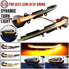 Para seat leon iii mk3 5f 13-18 ibiza kj mk5 v arona 17-18 led dinâmico turn signal blinker sequencial espelho lateral indicador de luz