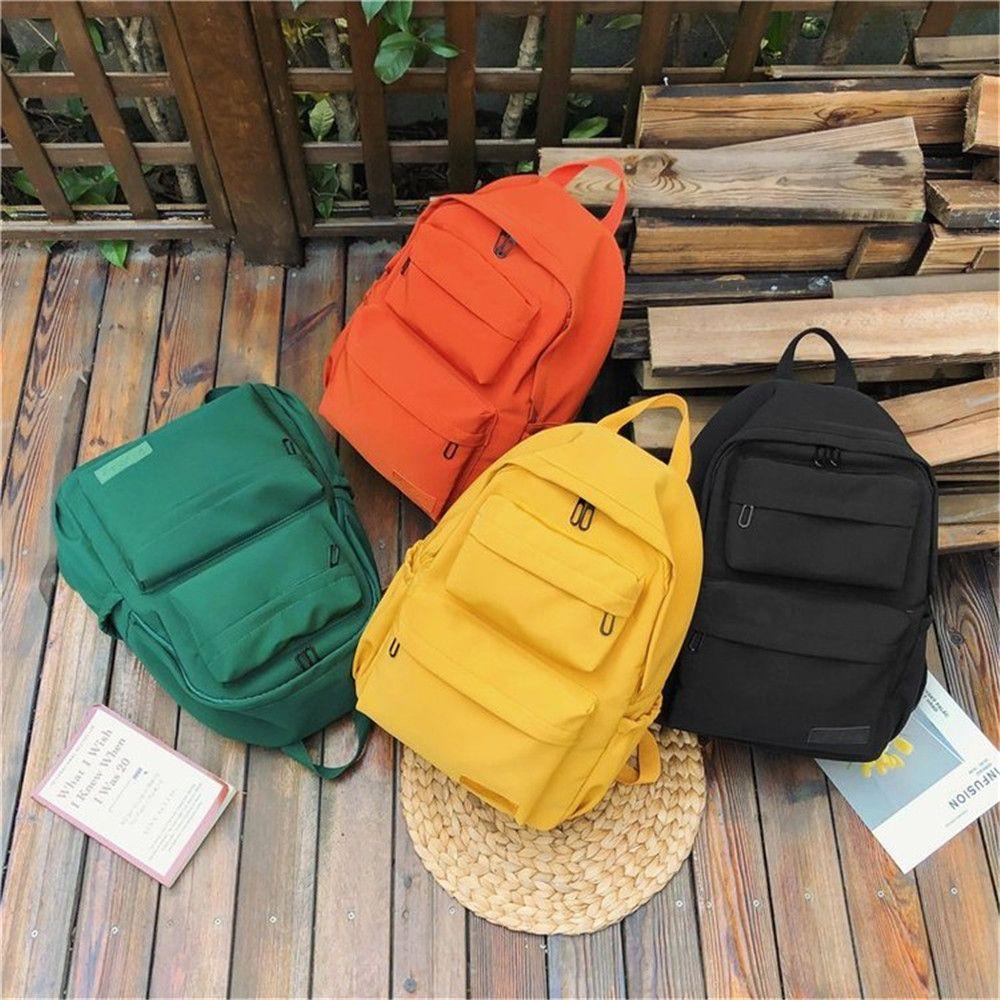 1pc Nylon Cloth Large-capacity Backpack Multi-pocket Travel Backpack Books Stationery Storage Waterproof School Bag Stationery