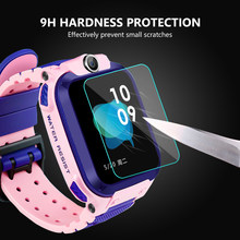 3 Pcs 9H Hardness HD Glass Screen Film Protector for Q12 Baby Kids Child Smart Watch Smartwatch Glass Screen Protectors(China)