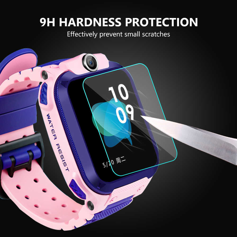 3 Pcs 9H Hardness HD Glass Screen Film Protector for Q12 Baby Kids Child Smart Watch Smartwatch Glass Screen Protectors
