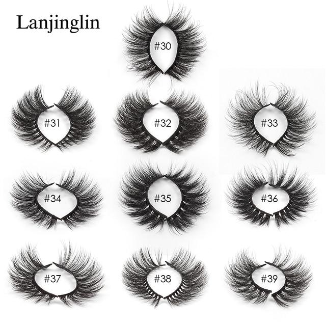 LANJINGLIN Wholesale Bulk 4/40/50/100pcs 6D Mink Lashes Natural False Eyelashes Long Set faux cils Bulk Makeup wholesale lashes 5