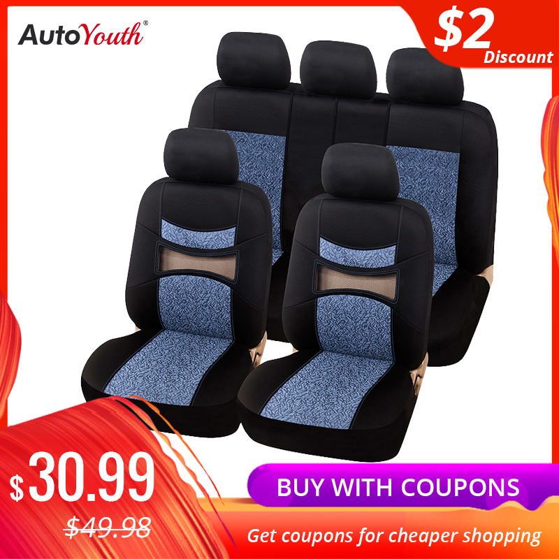 AUTOYOUTH Hollow Breathable Car Seat Cover 3 Color Four Seasons Universal Polyester Seat Cover Suitable for Most Seat Covers|Automobiles Seat Covers| |  - title=