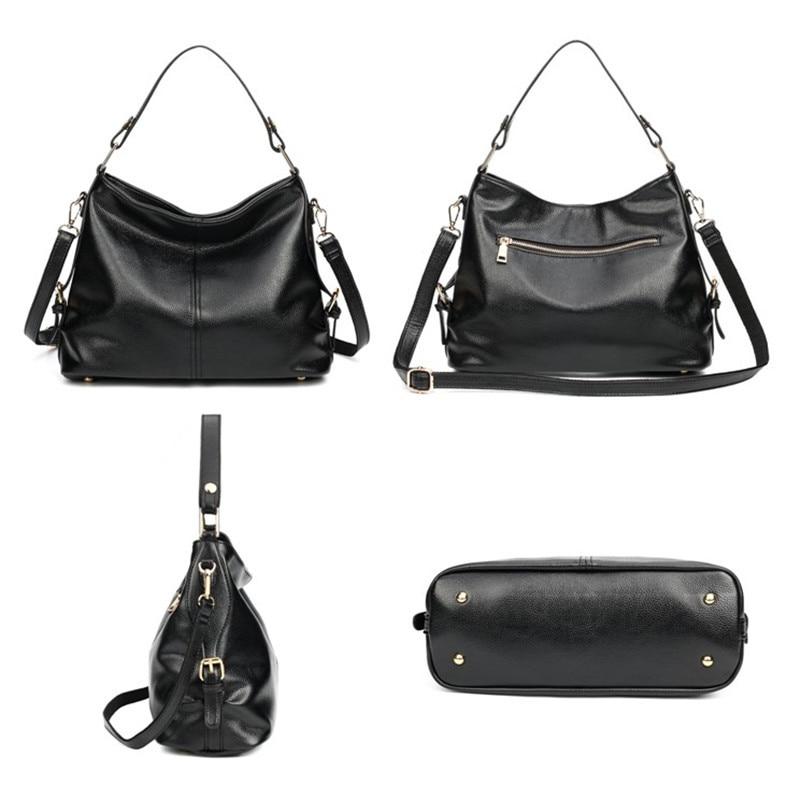 2019 New Fashion Soft PU Leather Litchi Women Handbag Elegant Ladies Hobo Shoulder Bag Messenger Purse Satchel Black waterproof in Top Handle Bags from Luggage Bags