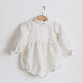Pelele para niña bebé de 0 a 24M, Pelele de manga larga, monos de una sola pieza, nueva moda, 100% de algodón orgánico, ropa para niña recién nacida