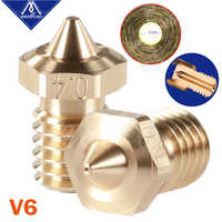 Mellow 1Pcs High quality Sharp NF V6 Nozzles For 3D printers Hotend E3D Nozzle For 3D Printer Nozzles Hotend Titan Extruder