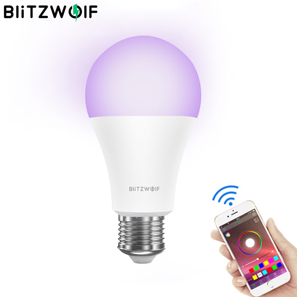 BlitzWolf BW-LT21 Smart Wifi LED Lamps 3000K+RGB APP Remote Control Smart LED Bulb Support For Amazon For Echo For Google Home