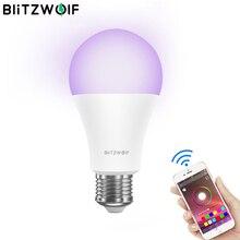 Blitzwolf wi fi inteligente lâmpada led lâmpadas 3000k + rgb app controle remoto controle de voz sem fio lâmpada led trabalho com o google casa