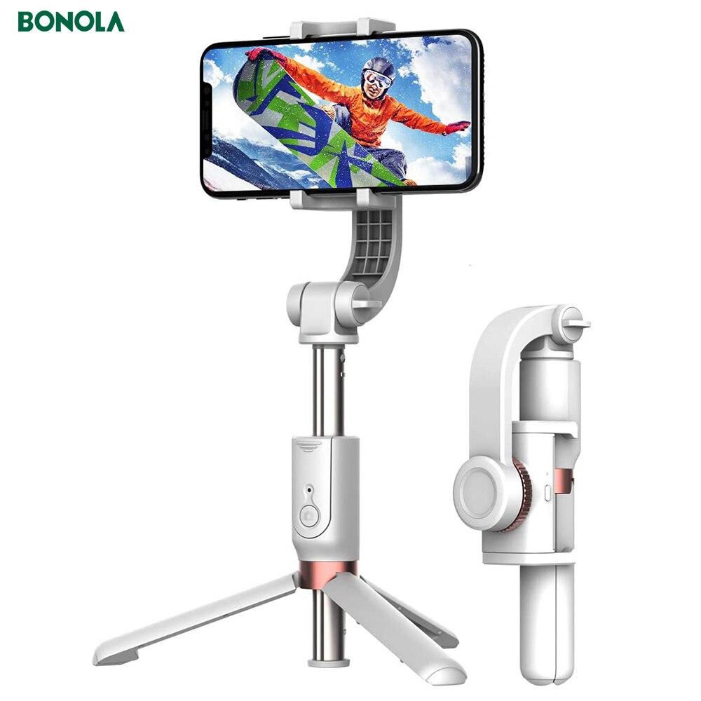 Bonola Anti-Shake Selfie Stick Smart Gimbal Sports Mobile Phone Photo Selfie Video Shooting Bluetooth Selfie Stick Tripod Base