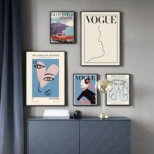 موضة حذاء مدرسة بناتي من القماش المشارك مجردة امرأة ميزة خط الفني اللوحة جدار صور لغرفة المعيشة جدار ديكور فني (8)
