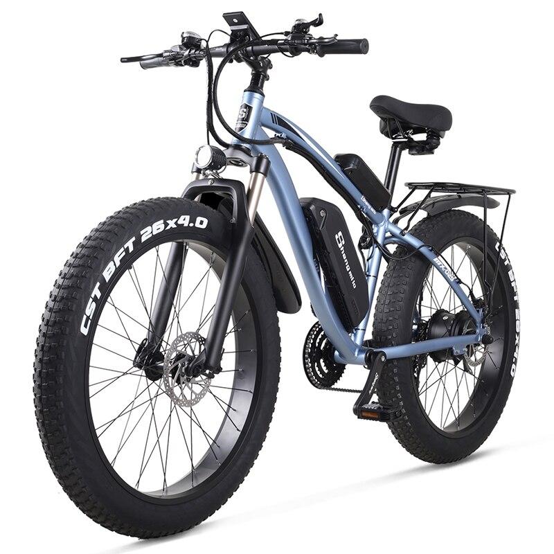 MX02S Electric bike 48v 1000W 4.0 Fat Tire Ebike 26 inch Snow Bike   17Ah Adult Mountain bike 40km/h Cruiser Electric Bicycle 3
