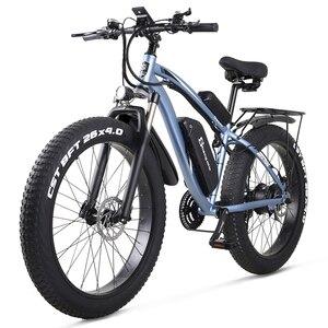 MX02S Electric Bike 1000W Snow Bike Electric Bicycle Electric Mountain Bike 26 inch 4.0 Fat Tire ebike 48V17Ah Lithium Battery