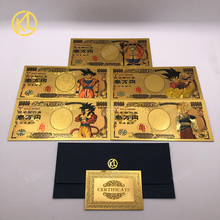 5 шт./10 шт./лот, Японский дракон, мультфильм, 10000 иен, золото, пластиковые банкноты для классической детской коллекции памяти