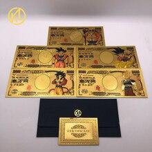 HOT 5pcs/10pcs/lot Japan Dragon Cartoon 10000 Yen Gold plast