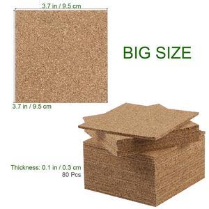 Image 4 - 80pcs 95x95mm Self Adhesive Square Cork Sheets for DIY Coasters Cork Tiles Cork Mat