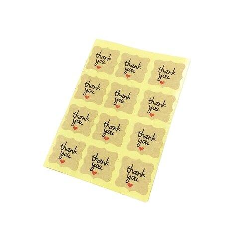 1200 pcs lote kawaii kraft papel obrigado voce diy multifuncional pequeno selo etiqueta do presente