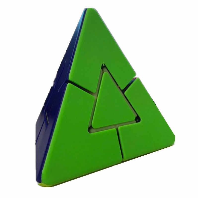 Lefang 2x2 Garip Şekil Piramit Sihirli Küp zeka bulmacası Küp eğitici oyuncak Çocuklar Için