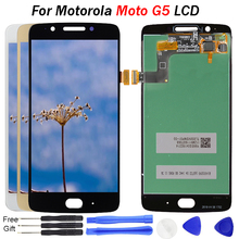 Brand New LCD For Motorola Moto G5 Display Touch Screen Digitizer Replacement XT1672 XT1670 XT1676 5.0 inch Kit For Moto G5 LCD все цены