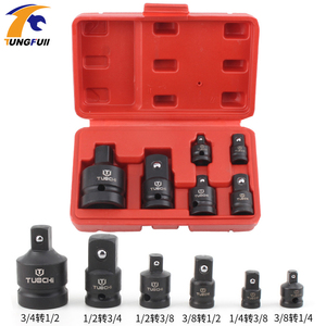 1Set Impact Socket Adaptor 1/2 to 3/8 3/8 to 1/4 3/4 to 1/2 Socket Convertor Adaptor Reducer for Car Bicycle Garage Repair Tool