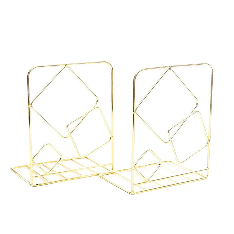 Bookends Metal Book Ends Heavy Duty Modern Decorative Bookend Bookshelf Decor For Bedroom Library Office School Book Display Des