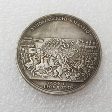 Памятная монета в Россию 1709, монета Питера и людей, коллекция монет, ремесла, украшение для дома, подарок, сувенир