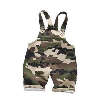 Повседневная летняя одежда для маленьких мальчиков и девочек; камуфляжные детские комбинезоны из хлопка; шорты; Pantalones