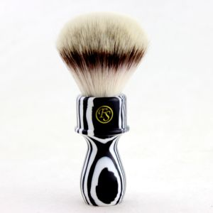 "Image 1 - ""FS"" 26mm G4 Synthetic Hair Shaving Brush Zebra Handle+FREE STAND"