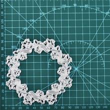 DiyArts Flower Metal Cutting Dies Scrapbooking Wreath Craft Embossing Album Stencil Die Cut Card Makeing New 2019