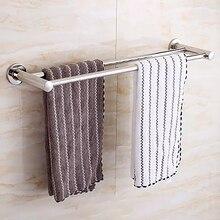 Полотенце для ванной комнаты настенный держатель для полотенец полка из нержавеющей стали держатель полки в ванной туалет кухонное полотенце бар 2 слоя