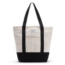 WULI SEVEN Casual Shoulder Vest Large Capacity Simple Shopping Bag With Letter Label Girls Hand Women Package