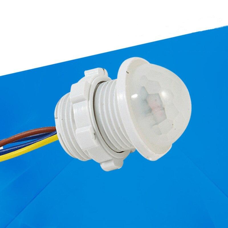 1 ud. 40mm Led sensible ajustable luz infrarroja blanca Sensor de movimiento retardo de tiempo interruptor PIR de iluminación para el hogar