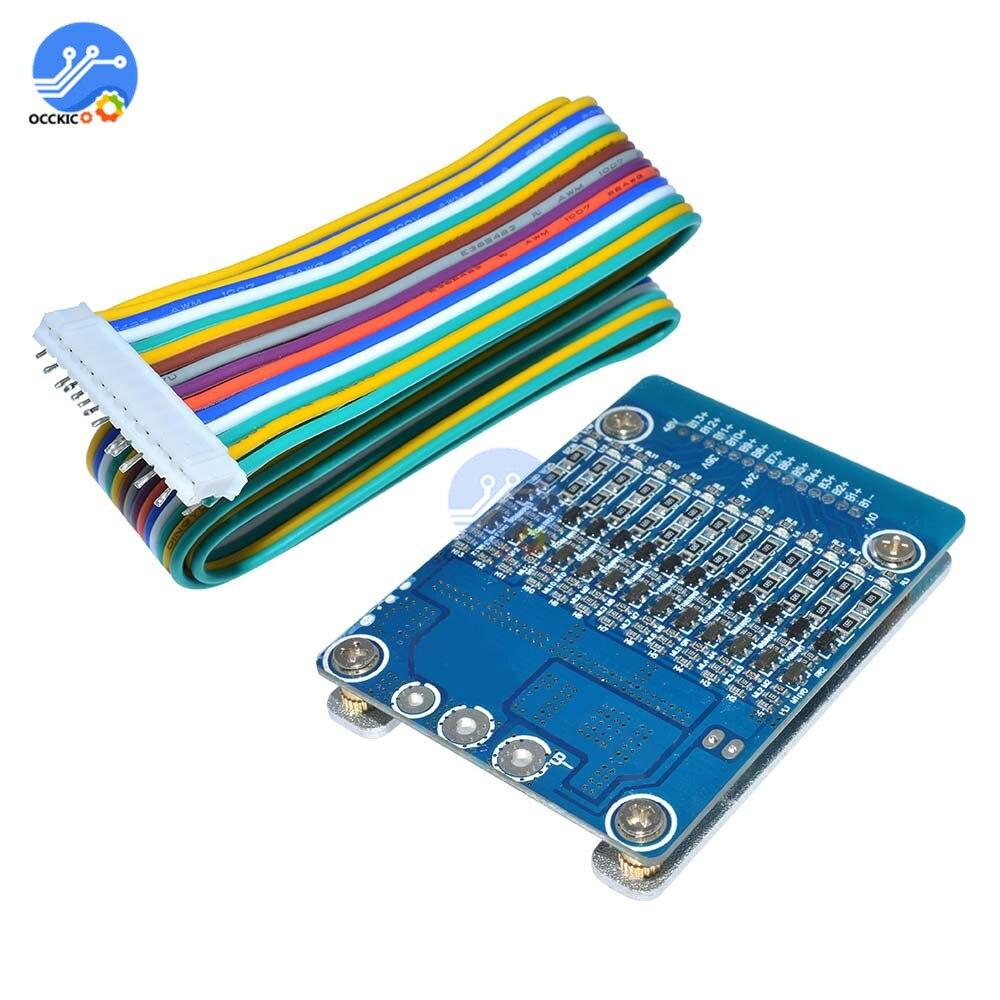 Bms 13 S 20A 48 V porta PCB Placa de circuito de Proteção da bateria De Lítio Li-ion Bateria recargable pilas 18650 BMS Balanceador elétrica
