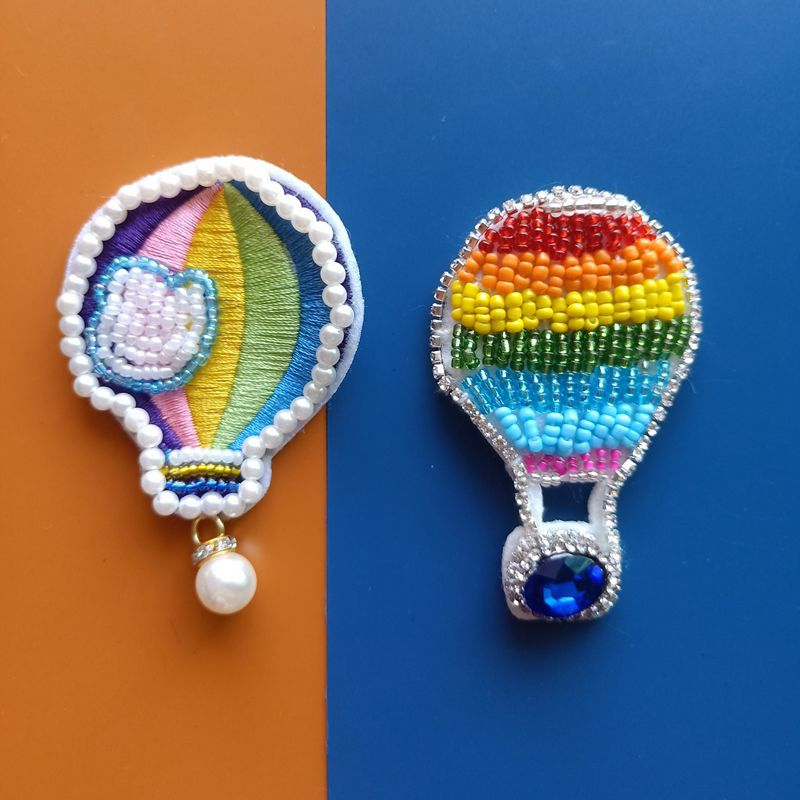 1pcs Cute Plush Hot Air Balloon Pattern Patch Application Clothes Pants