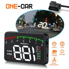 New A900 car HUD Head-Up Display Car-styling Hud Display Overspeed Warning Windshield Projector Alarm System  Auto Universal car hud reflective film head up display system film obd fuel consumption overspeed display auto accessories