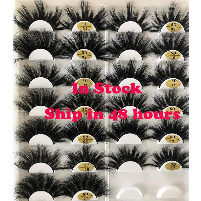 25 Mm Mink Eyelashes Faux 3d Mink Lashes Bulk Wispy Strips False Eyelashes Natural Extensions Individual Fake Lashes Fluffy