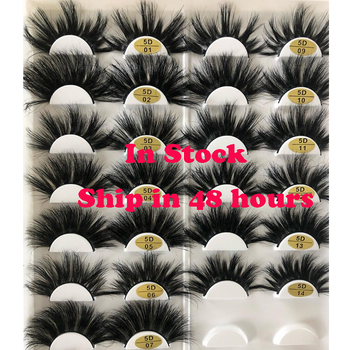 25 Mm Mink Eyelashes Faux 3d Mink Lashes Bulk Wispy Strips False Eyelashes Natural Extensions Individual Fake Lashes Fluffy