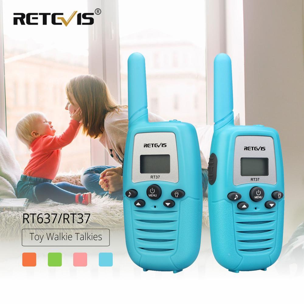Retevis RT637/RT37 Walkie Talkie 2 Pcs Two-way Radio PMR446 PMR FRS Mini Walkie Talkie For Kids Flashlight VOX Christmas Gift