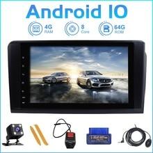 ZLTOOPAI autoradio Android 10, lecteur multimédia, GPS, 2 Din, pour voiture mercedes benz classe GL/ML, W164, X164, ML350, ML450, ML500, GL320, GL450